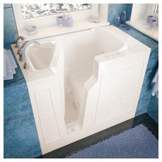 Venzi 26x46 Left Drain Biscuit Whirlpool Jetted Walk In Bathtub