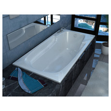 Venzi Aesis 32 X 60 Rectangular Soaking Bathtub With Reversible Drain