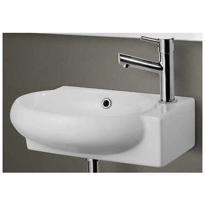 Brand: Alfi Series: Bathroom Sink Style: Modern Color: White Finish: White  Size: Rectangle UPC: 811413021229. MPN: AB107 Width: 10.75. Length: 11