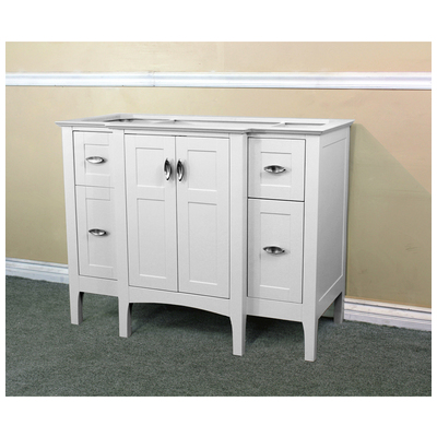 44 in single sink solid wood bathroom vanity white cabinet only 7614