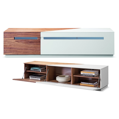 Bellini Modern Living, Rico TV Stand, Tv Stands Entertainment Centers, Bellini  Modern Living Rico Tv Stand White High Gloss W Walnut Accent Rico Tv Stand