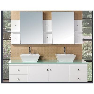 design element portland 72 double sink bathroom vanity set in white