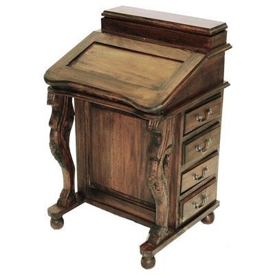 Harris Furniture 26c Davenport Wood Lift Top 26c Brown
