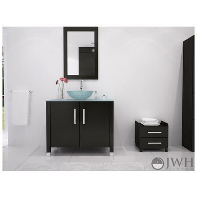 Best Deal Jwh Living Gemini Glass Bathroom Vanity In Espresso Jwh 3117