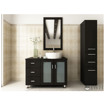 Best Deal Jwh Living Lune Bathroom Vanity In Espresso Jwh 4002