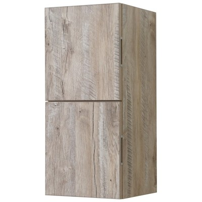 Kubebath, SLBS28 NW, Storage Cabinets, Kubebath Bliss 12 Wide By 24 High  Linen Side Cabinet With Two Doors In Nature Wood Finish Slbs28 Nw
