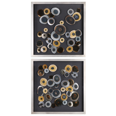 UPC: 792977040942. MPN: 04094. Width: 2.2. Length: 32. Height: 32.  Material: MDF,GLASS,IRON,ACRYLIC Application: Alternative Wall Decor  Collection: Discs