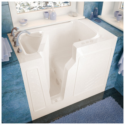 Venzi vz2646lbh venzi 26x46 left drain biscuit for Walk in tub water capacity