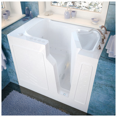 Venzi vz2646rwd venzi 26x46 right drain white for Walk in tub water capacity