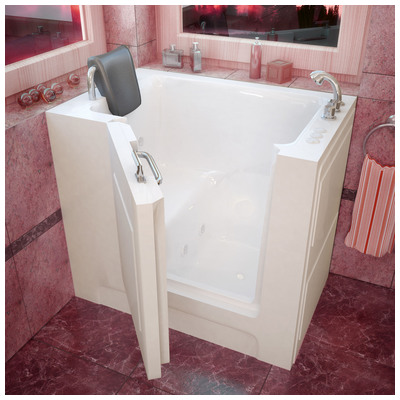 Venzi vz2739rwh venzi 27x39 right drain white for Walk in tub water capacity