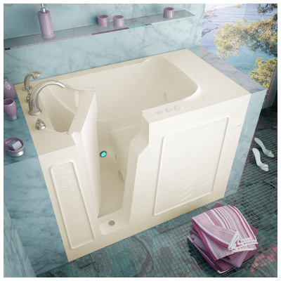 Venzi vz2952lbh venzi 29x52 left drain biscuit for Walk in tub water capacity