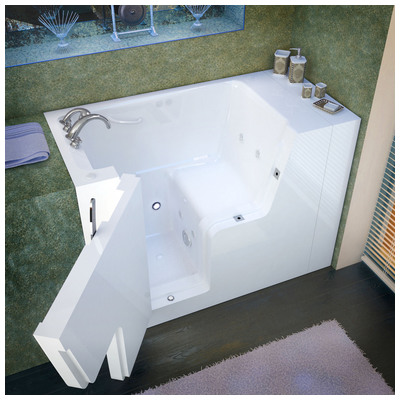 Venzi vz2953wcalwh venzi 29x53 left drain white for Walk in tub water capacity