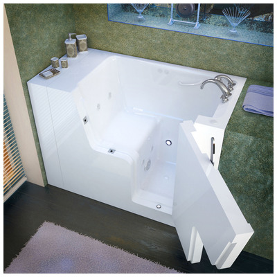 Venzi vz2953wcarwh venzi 29x53 right drain white for Walk in tub water capacity