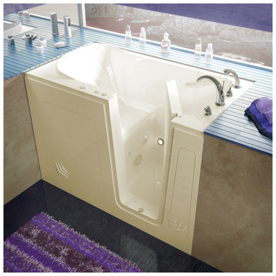 Venzi vz3054rbh venzi 30x54 right drain biscuit for Walk in tub water capacity