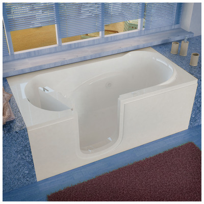 Venzi vz3060silwh venzi 30x60 left drain white for Walk in tub water capacity