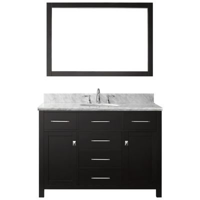 Best Deal Virtu Usa 48 Caroline Single Round Sink Bathroom Vanity In Espresso With Italian