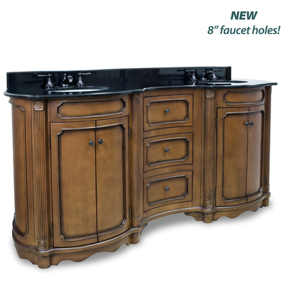 Tesla Walnut  Double Vanity With Preassembled Top And Bowl By Bath