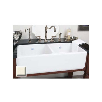 Rohl, RC3719, Double Bowl Sinks, Rohl Rc3719 37 Handcrafted 50 50 Double  Basin Fireclay Apron Front Farmhouse Kitchen Sink From The Shaws Original Se
