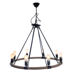 Old Modern Handicrafts Rope Pendant Lamp with 3 Bulbs AL009