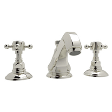 Rohl C7693BVSTN Country Bath Crystal Cross Handle Only Half Dome Crystal with 3//4 Bell Housing to Tub Fillers A1404Xc A1414Xc A1464Xc A1454Xc Satin Nickel