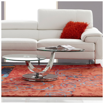 Bellini Modern Living The Allure Motion Coffee Table Has 2 Circular Table  Tops. A Stylish Polished Stainless Steel Arms And Base. Allure CT