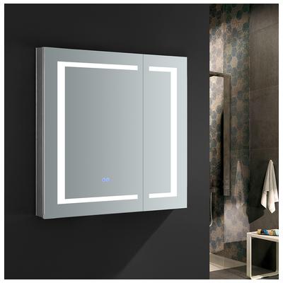 Bathroom Medicine Cabinets.Fresca Spazio 30 Wide X 30 Tall Bathroom Medicine Cabinet W Led Lighting Defogger Fmc023030