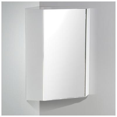 Fresca Coda 18 White Corner Medicine Cabinet W Mirror Door Fmc5084wh