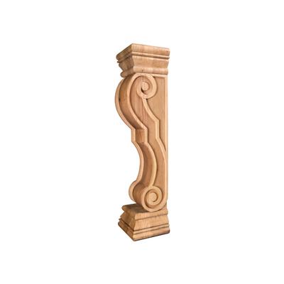 "Mantel Corbel FCORV-RW German Romanesque Wood Fireplace 8/"" x 7/"" x 36/"""