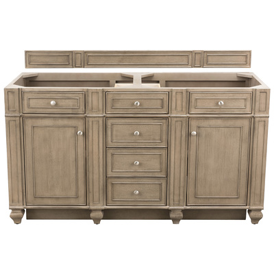 "Best Deal - James Martin Bristol 60"" Double Bathroom Vanity, White Washed Walnut 157-V60D-WW"