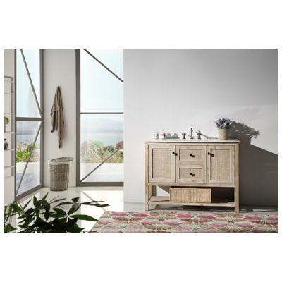 Best Deal Legion Furniture Wh5148 48 Solid Wood Sink Vanity With Marble Top No Faucet