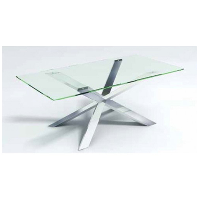 Brand Nuevo Series Table Style Dining Color Clear Finish Silver Upc 804324099241 Mpn Hgtb225 Width 39 5 Length 78 Height 29 Grade Gl