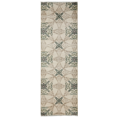 Solo Rugs M1780 60 Solo Rugs Eclectic Hand Knotted Runner Rug 2