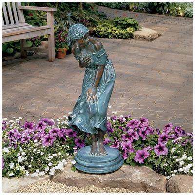 Toscano, SU526, Garden Statues Benches And Decor, Toscano Su526 Windblown  Bronze