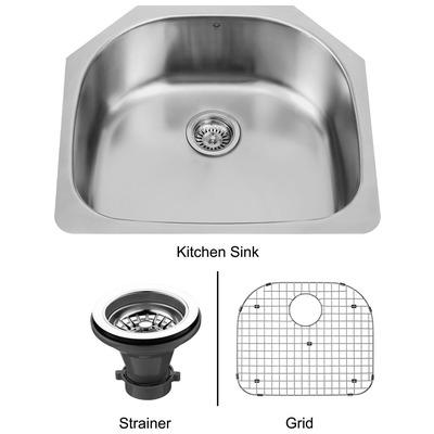 Vigo Vg2421k1 24 Inch Undermount Stainless Steel Kitchen Sink Grid And Strainer