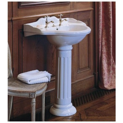Herbeau, 0312, Pedestal Sinks And Bases, Herbeau 0312 Carla Ceramic Pedestal  Only For Use With Carla Washbasin