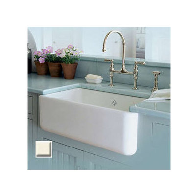 Rohl Rc3018 30 Handcrafted Single Basin Fireclay A Front Farmhouse Kitchen Sink From The Shaws Original Series In White