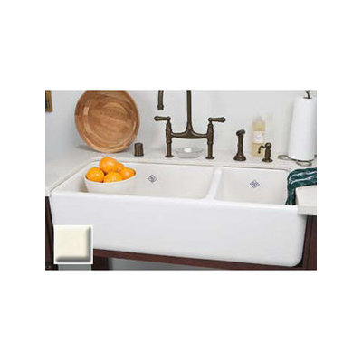 Rohl Rc4019 40 Handcrafted 65 35 Double Basin Fireclay A Front Farmhouse Kitchen Sink From The Shaws Original Series In White