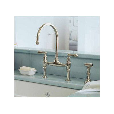 Incroyable Rohl, U.4719L, Kitchen Faucets, Rohl U 4719L Patented Internally Diverting  Double Handle Bridge Kitchen Faucet With Insulated Brass Sidespray From The