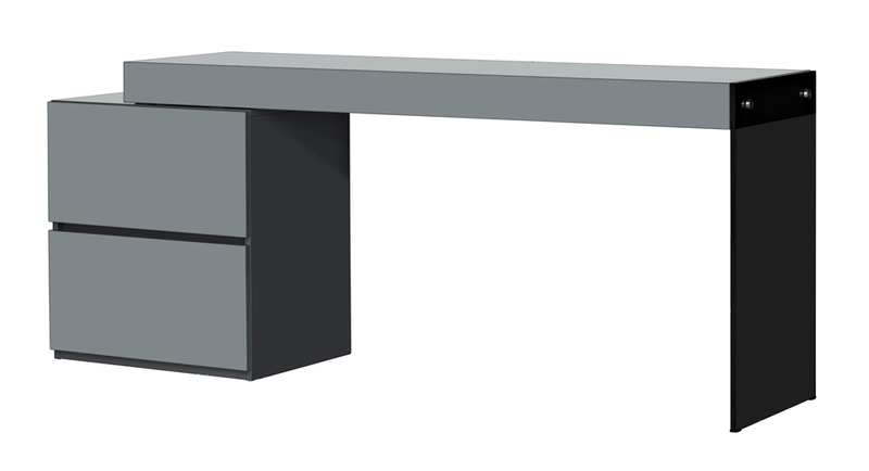 Casabianca, CB 111 DESK GRAY, Desks, Il Vetro Collection High Gloss Gray  Lacquer Extendable Office Desk By Casabianca Home Cb 111 Desk Gray