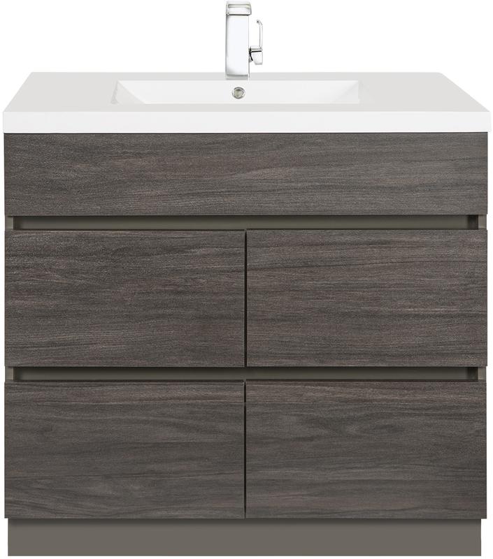 Cutler Kitchen And Bath Karoo Ash 36, 4 Drawer Bathroom Cabinet