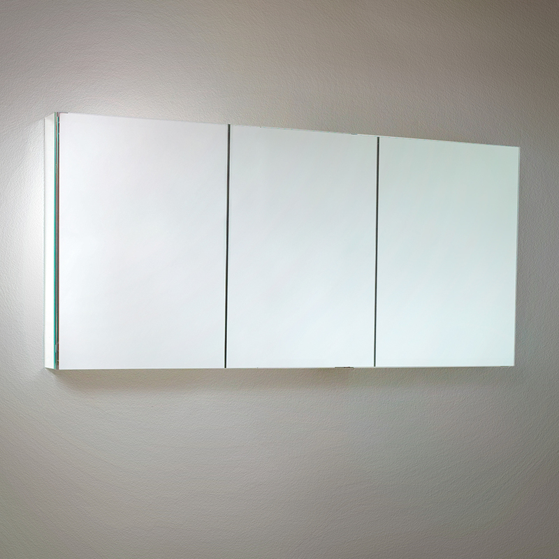 Fresca Fmc8019 Medicine Cabinets 60 Wide Bathroom Cabinet W Mirrors