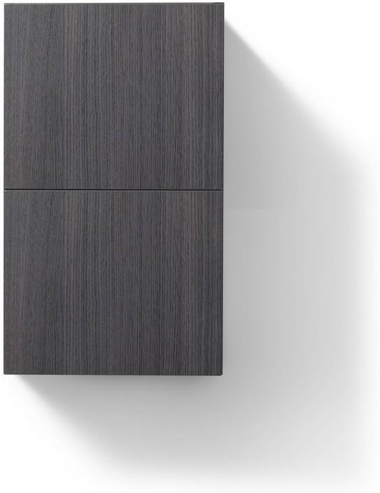 Kubebath Alt24 Hggo Storage Cabinets Bliss 14 Wide By 24 High Linen Side Cabinet With One Door In Gloss Gray Oak Finish