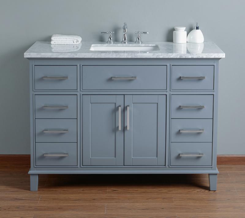 Best Deal Stufurhome Leigh 48 Inches Grey Single Sink Bathroom Vanity Hd 1475g 48 Cr