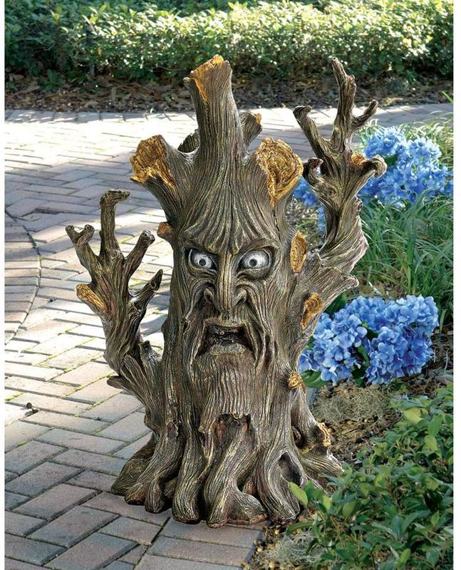 Toscano, CL5866, Garden Statues Benches And Decor, Toscano Cl5866 Bark The  Black Forest Ent Tree Statue