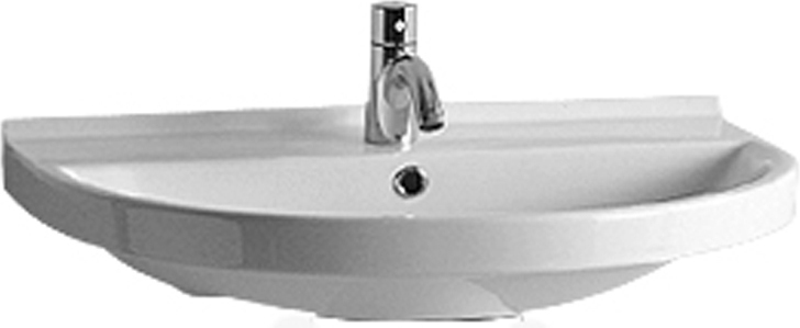 Whitehaus Lu044 3h Wall Mount Sinks Whitehaus Isabella Collection Large U Shaped Wall Mount Bathroom Basin With Widespread Hole Faucet Drilling Chrome Over