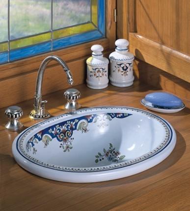 Herbeau 0401 Bathroom Vanity Sinks Herbeau 0401 Opale 18 X22 Earthenware Counterop Bathroom Sink Less Overflow And Drain Set