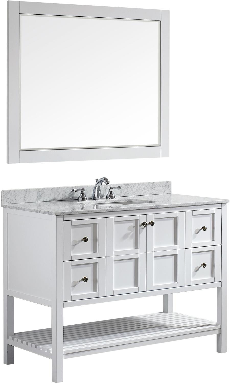 Best Deal Vinnova Florence 48 Bathroom Vanity In White With