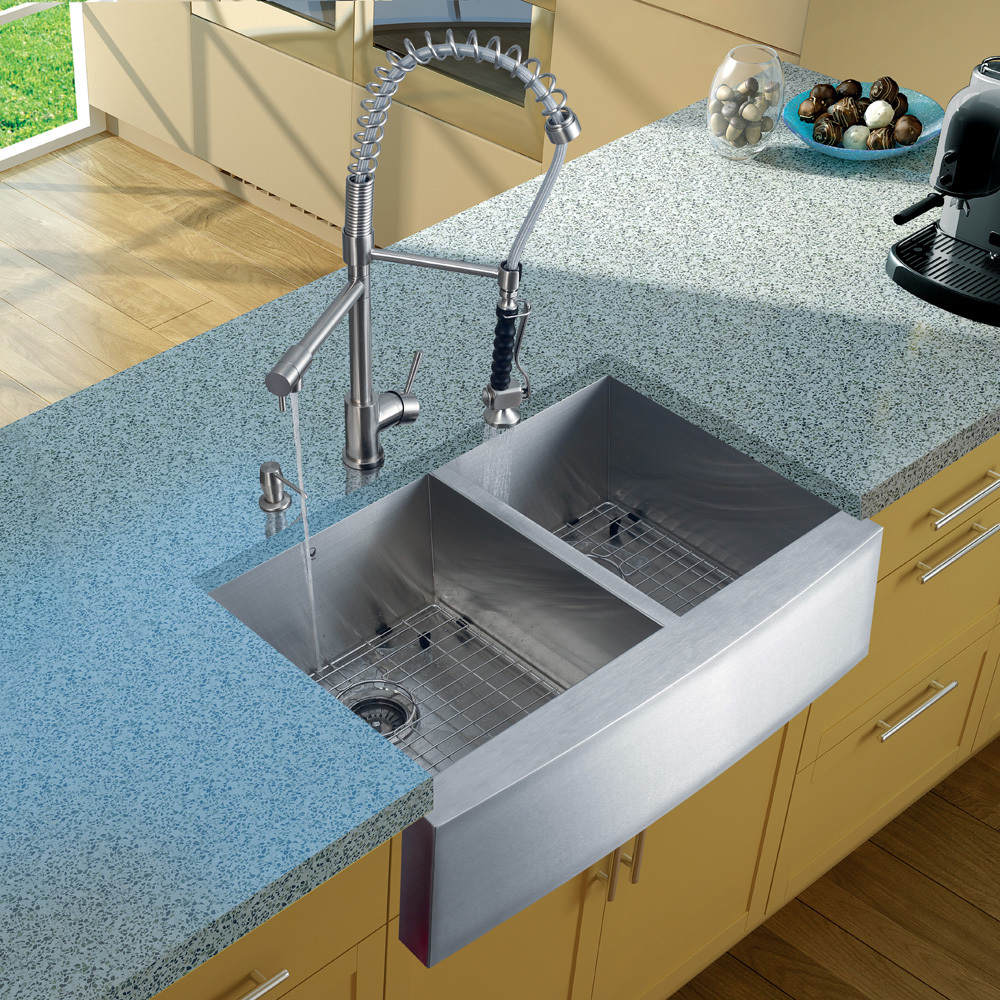 Vigo, VG02007ST, , Stainless Steel Pull Down Spray Kitchen Faucet ...
